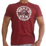 W155 World Gym Bodybuilding Shirt circle logo
